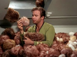 Kirk in a tribble pile-up.