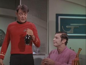 Scotty, a Kelvin, and a large bottle of Whiskey.