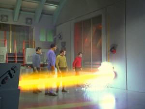 M5 disintegrates an Engineering redshirt