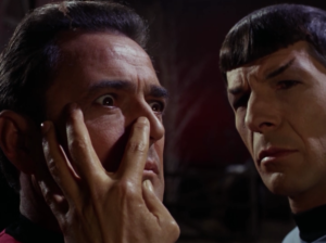 Spock performs the Most Awkward Mind-Meld Ever on Scotty