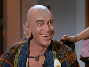 the leader of the space hippies and his cauliflower-shaped ears