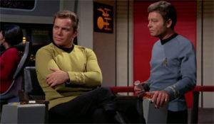 Kirk and Bones on the bridge