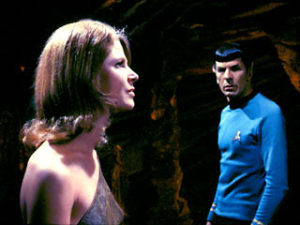Spock looks longingly at Zarabeth